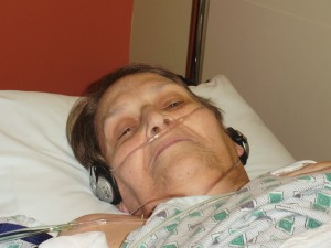 Patient wearing Surgical Serenity Headphones